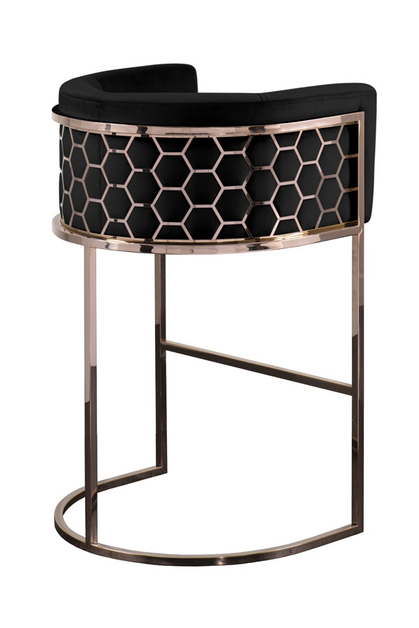 Super Alveare Bar Stool Copper Black Alphanode Cool Chair Designs And Ideas Alphanodeonline