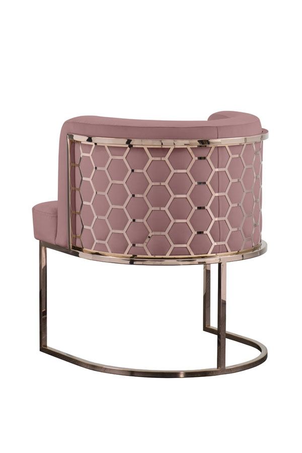My Furniture Alveare Copper Dining Chair Hexagon Furniture American Mid Century Furniture Brass Dining Chair