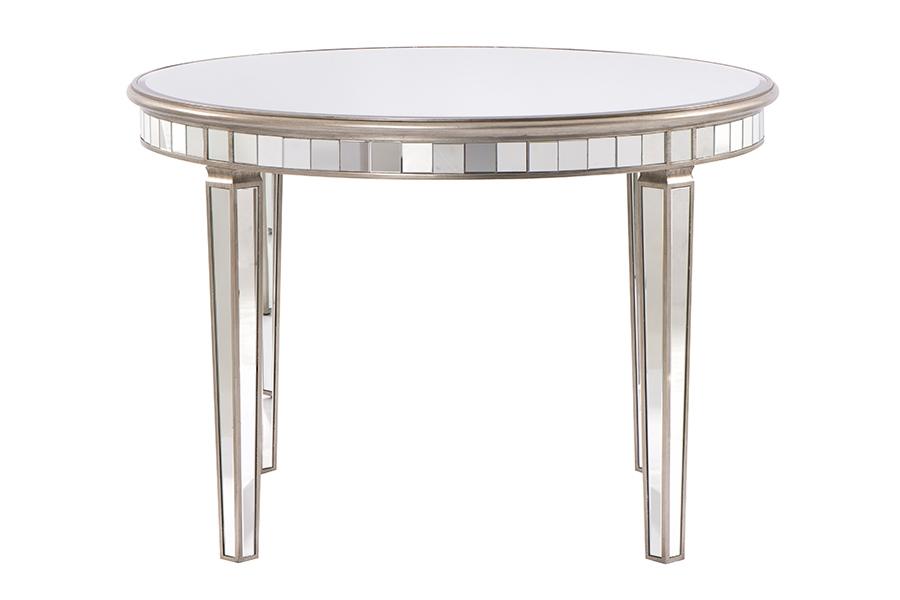 Tavoli Da Pranzo Rotondi In Vetro.Antoinette Tavolo Da Pranzo Rotondo A Specchio In Vetro Temprato