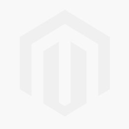 Grand tabouret Rubell gris colombe, piétement laiton