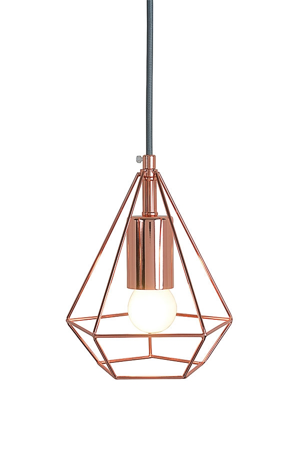 My Furniture Geometric Rose Gold Geometric Copper Pendant Light