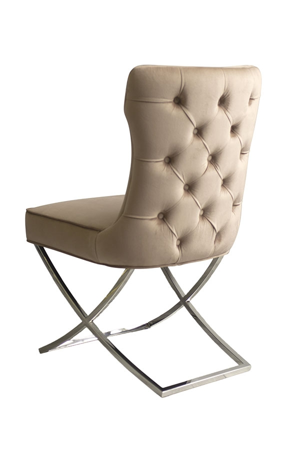 Fantastic Wexler Dining Chair Taupe Silver Base Theyellowbook Wood Chair Design Ideas Theyellowbookinfo