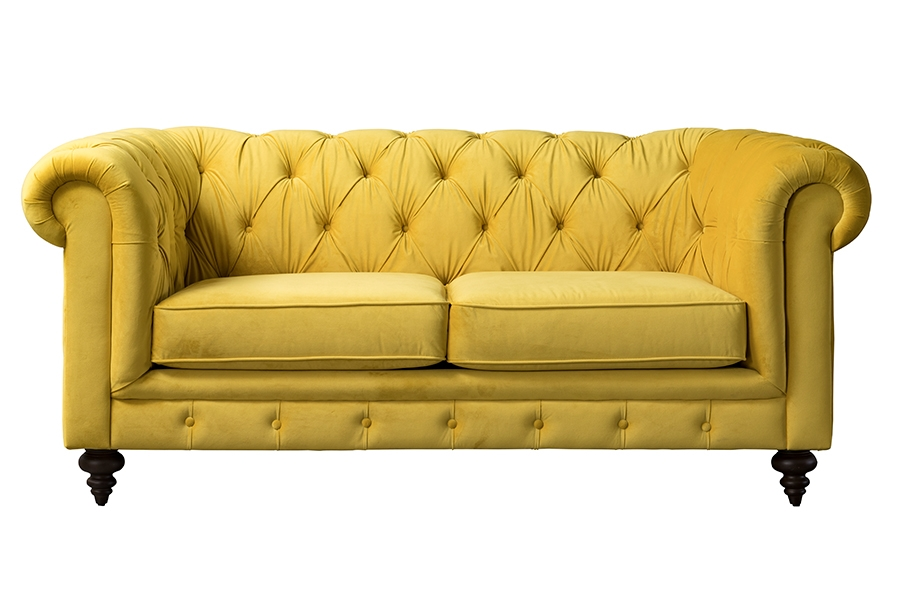 My Furniture Monty Two Seat Sofa Mustard