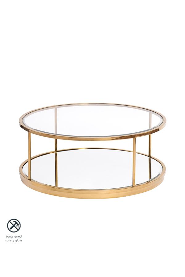 My Furniture Rippon Brass Circular, Round Table Ripon